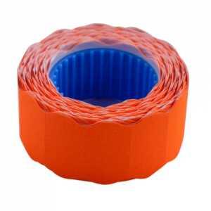 Ценник 22 * 12мм (500шт, 6м), фигурный, внешняя намотка, оранжевый
