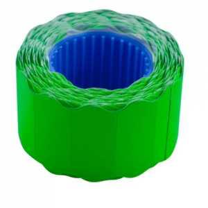 Ценник 26 * 12мм (500шт, 6м), фигурный, внешняя намотка, зеленый