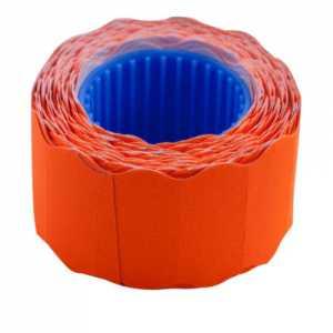 Ценник 26 * 12мм (500шт, 6м), фигурный, внешняя намотка, оранжевый