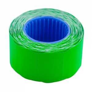 Ценник 26 * 16мм (375шт, 6м), фигурный, внешняя намотка, зеленый