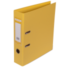 Регистратор двухсторонний Buromax А4/70мм желтый