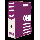 Бокс архивный BUROMAX 100 мм фиолетовый