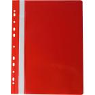Скоросшиватель с перфорацией Buromax А4, красный