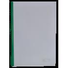 Скоросшиватель с прижимной планкой А4 6мм, зеленый