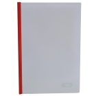Скоросшиватель с прижимной планкой А4 6мм, красный