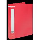 Папка пластикова А4 40 файлів Buromax, червона