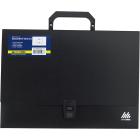 Портфель пластиковый A4 1 отделение BM.3724-01, черный