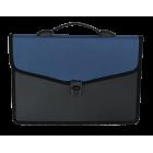Портфель пластиковый 3 отделения BM.3734-02, синий