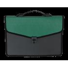 Портфель пластиковый 3 отделения BM.3734-04, зеленый