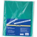 Файл глянцевый цветной А4+ BuroMax 40мкм зеленый, 100 шт/уп.