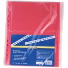 Файл глянцевий кольоровий А4 + BuroMax 40мкм червоний, 100 шт/уп.