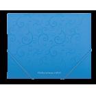 Папка на резинках А5 Barocco BM.3902-14, голубая