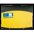 Папка на резинках А4 пластиковая BM.3910-08, желтая