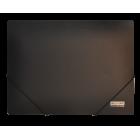 Папка на резинках А4 пластиковая BM.3911, черная