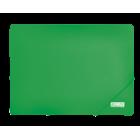 Папка на резинках А4 пластиковая BM.3911, зеленая