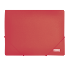 Папка на резинках А4 пластиковая BM.3911, красная
