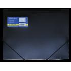 Папка на резинках А4 пластиковая BM.3913-01, черная