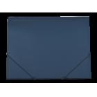 Папка на резинках А4 пластиковая GLOSS, синяя