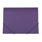 Папка на резинках А4 пластиковая GLOSS, фиолетовая