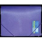 Папка на резинках А4 пластиковая Металлик, фиолетовая