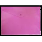 Папка-конверт на кнопке А4 BM.3925-10, розовая