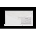 Папка-конверт на кнопке DL Travel BM.3938-00, прозрачная