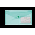 Папка-конверт на кнопке DL Travel BM.3938-04, зеленая