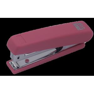 Степлер Buromax BM.4128 RUBBER TOUCH, розовый