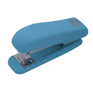 Степлер Buromax RUBBER TOUCH BM.4202, голубой