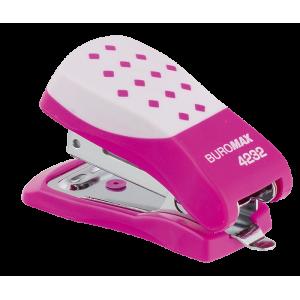 Степлер Buromax BM.4232, рожевий