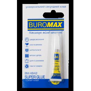 Супер-клей универсальний Buromax, 3г (BM.4842)