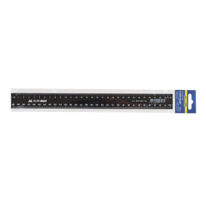 Лінійка пластикова 30см, чорна (BM.5827-30)