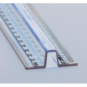 Лінійка пластикова 30см, з тримачем (BM.5828-30)