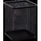 Подставка для ручек квадратная 80х80х95мм, черная