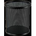 Подставка для ручек круглая  80х80х97мм, черная