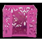 Бокс для бумаги Barocco 80x100х100мм, розовый