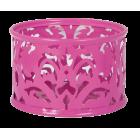 """Подставка для скрепок """"Barocco"""" 85х53мм, розовая"""