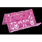 Подставка для визиток Barocco 100x97x47мм, розовая