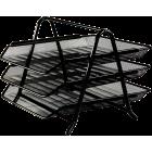 Лоток горизонтальный 3-х ярусный металлический, черный