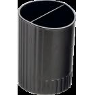 Стакан для ручек пластмассовый черный