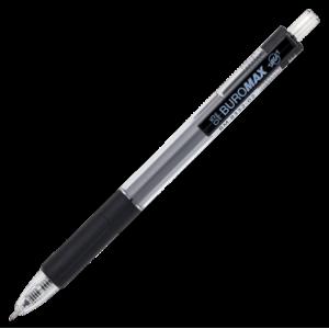 Ручка гелевая автоматическая Buromax TARGET, черная (BM.8332-02)