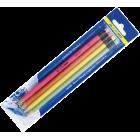 Набір: 4 графітових олівця «НЕОН» з гумкою BM.8521 BuroMax