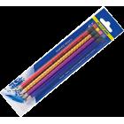 Набор: 4 графитовых карандаша «ГОЛОГРАММА»с ластиком BM.8522 Buromax