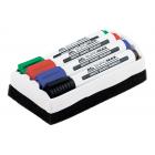 Набор: 4 маркера для досок Buromax BM.8800 с губкой