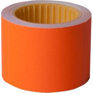 Ценник 50 * 40мм, (100шт, 4м), прямоугольный, внешняя намотка, оранжевый