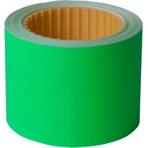 Ценник 50 * 40мм, (100шт, 4м), прямоугольный, внешняя намотка, зеленый