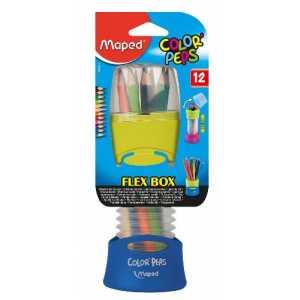 Карандаши цветные COLOR PEPS Flex Box, 12 цветов, раздвижной пенал