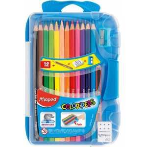 Карандаши цветные COLOR PEPS Smart Box, 12 цветов +3 изделия, пенал