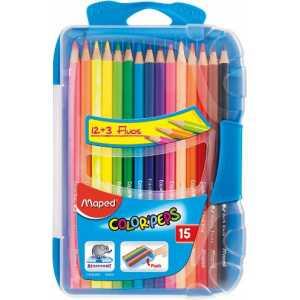 Карандаши цветные COLOR PEPS Smart Box, 15 цветов, пенал