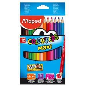 Карандаши цветные COLOR PEPS Maxi, утолщенные, 12 цветов